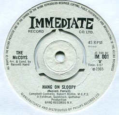 McCoys, The - Hang On Sloopy