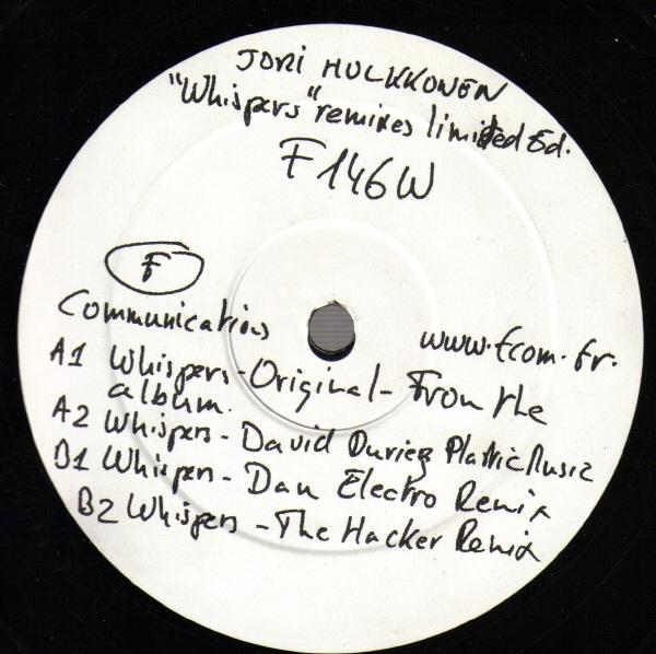 Jori Hulkkonen - Whispers (Remixes Limited Ed.)