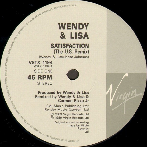 Wendy & Lisa - Satisfaction (U.S. Remix)