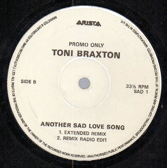 TONI BRAXTON - Another Sad Love Song - 12 inch x 1