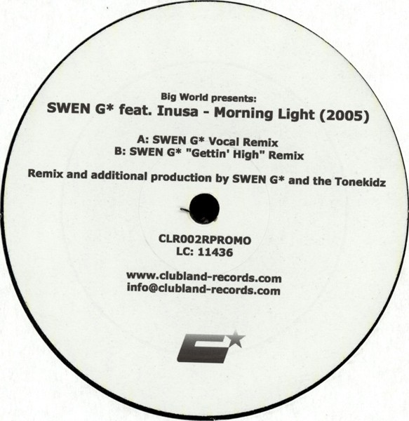 Big World Presents: Swen G Feat. Inusa - Morning Light (2005)