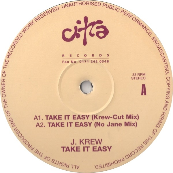 J. Krew - Take It Easy