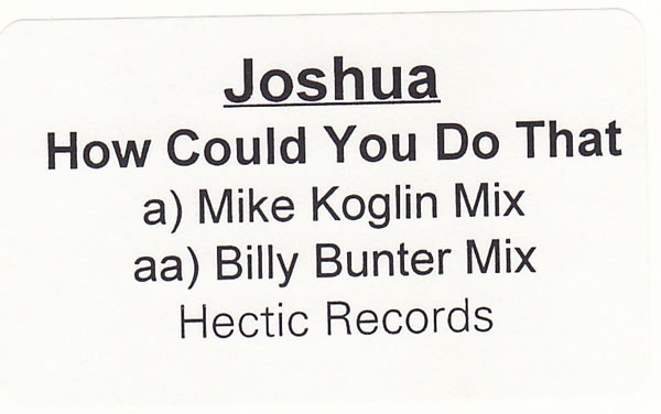 Joshua - How Could You Do That