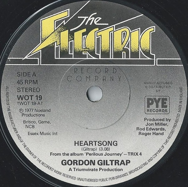 GORDON GILTRAP - Heartsong - 45T x 1