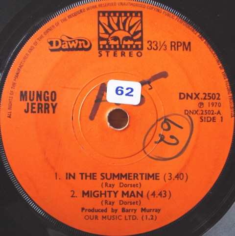 Mungo Jerry ? - In The Summertime / Mighty Man