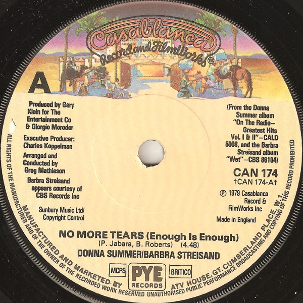 Donna Summer / Barbra Streisand - No More Tears (Enough Is Enough)
