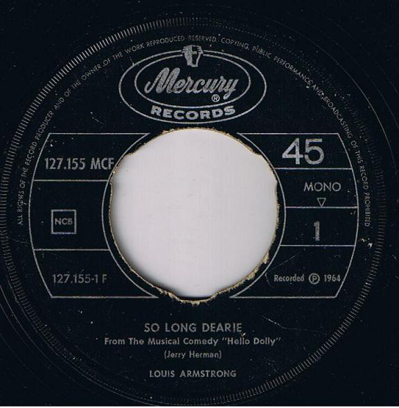 Louis Armstrong - So Long Dearie / Pretty Little Missy