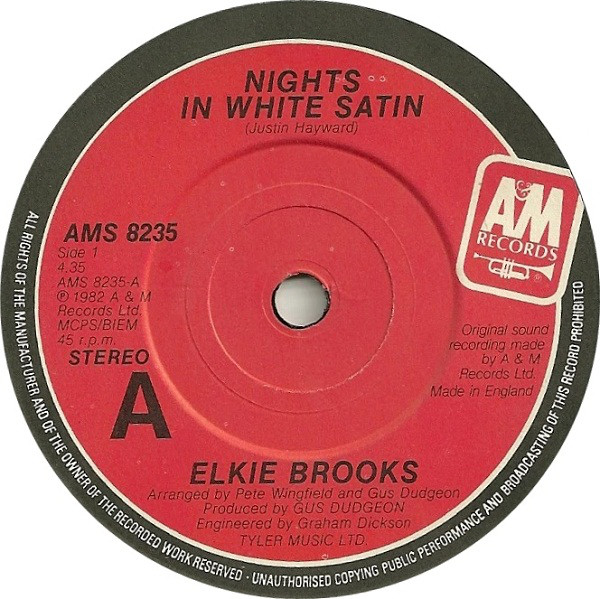 Elkie Brooks - Nights In White Satin