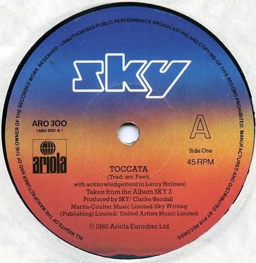 SKY - Toccata / Vivaldi - 7inch x 1