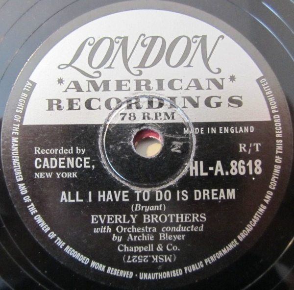 Everly Brothers - All I Have To Do Is Dream / Claudette (Shellac)