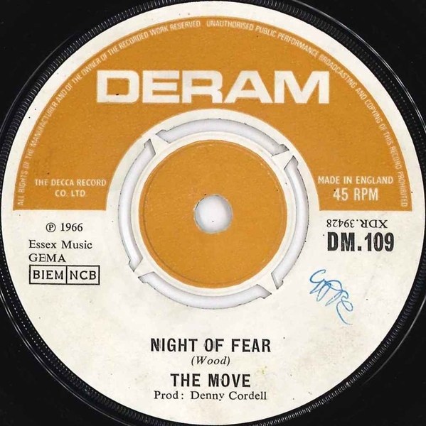 MOVE, THE - Night Of Fear - 7inch x 1
