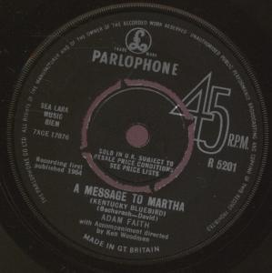 Adam Faith - A Message To Martha