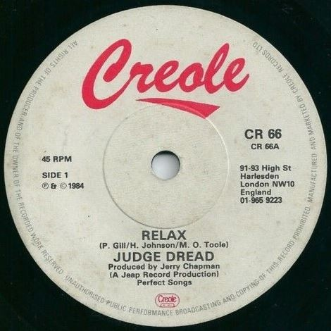 Judge Dread - Relax
