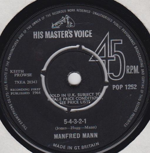 Manfred Mann - 5-4-3-2-1 / Without You