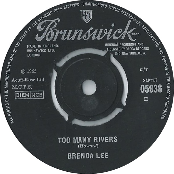 Brenda Lee - Too Many Rivers