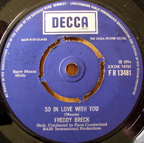 Freddy Breck - So In Love With You / Living To Love