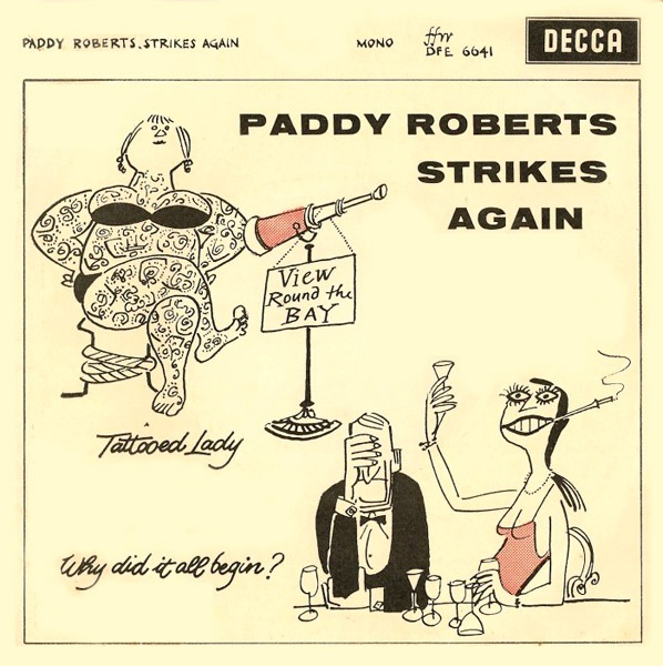 PADDY ROBERTS WITH DENNIS WILSON OCTET - Paddy Roberts Strikes Again - 7inch x 1