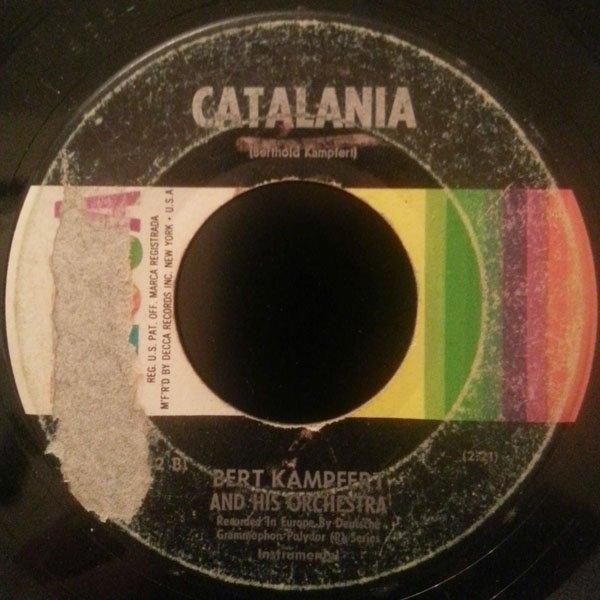 BERT KAEMPFERT AND HIS ORCHESTRA - Cerveza / Catalania - 7inch x 1