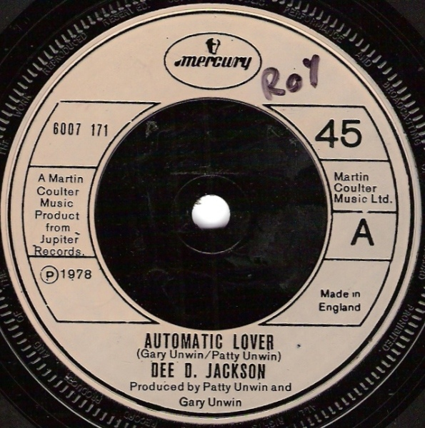 Dee D Jackson - Automatic Lover