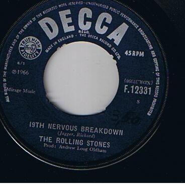 Rolling Stones, The - 19th Nervous Breakdown / As Tears Go By