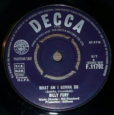 Billy Fury - What Am I Gonna Do