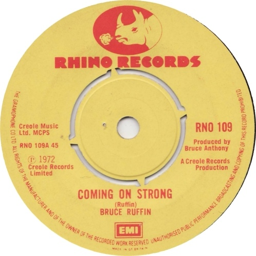 Bruce Ruffin - Coming On Strong / Crazy People