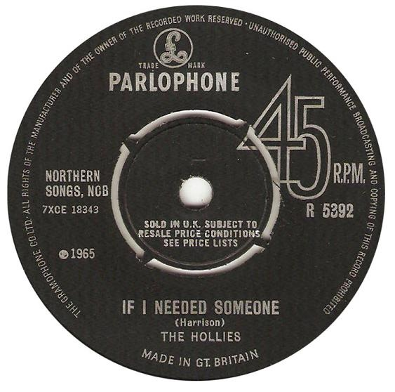 Hollies, The - If I Needed Someone