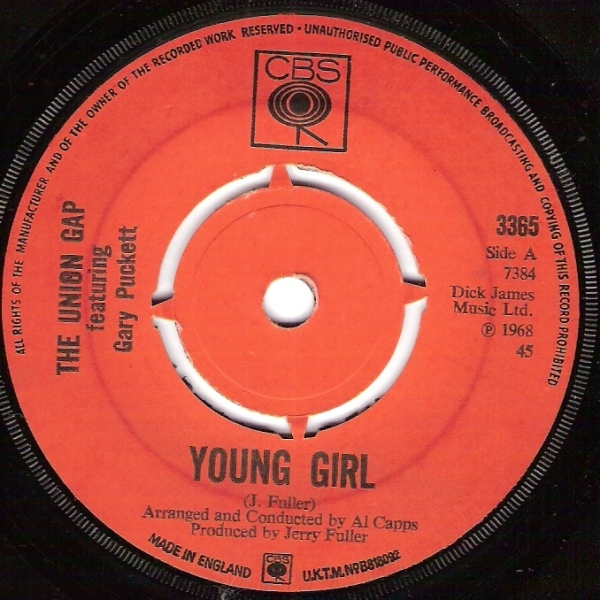 Union Gap Featuring Gary Puckett, The -  Young Girl