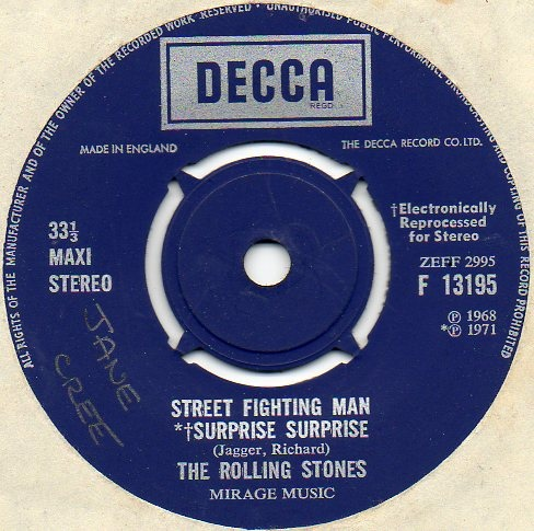 Rolling Stones, The - Street Fighting Man / Surprise Surprise