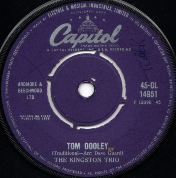 Kingston Trio, The - Tom Dooley