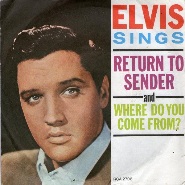 Elvis Presley With Jordanaires, The - Return To Sender