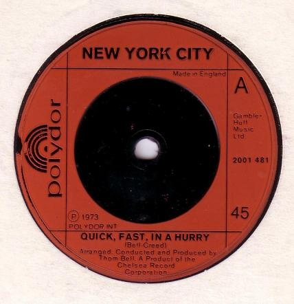New York City - Quick, Fast, In A Hurry