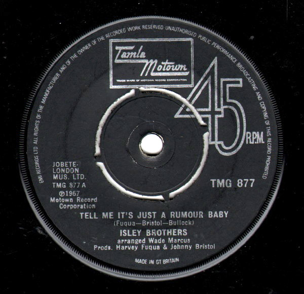 Isley Brothers - Tell Me It's Just A Rumour Baby / Save Me From Mis