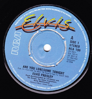 Elvis Presley - Are You Lonesome Tonight?
