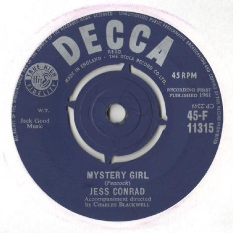 Jess Conrad - Mystery Girl / The Big White House
