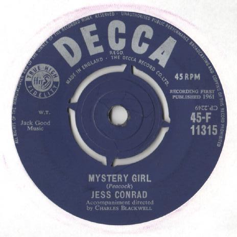 Jess Conrad - Mystery Girl / The Big White House