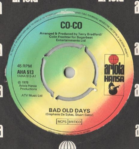 Co-Co - Bad Old Days