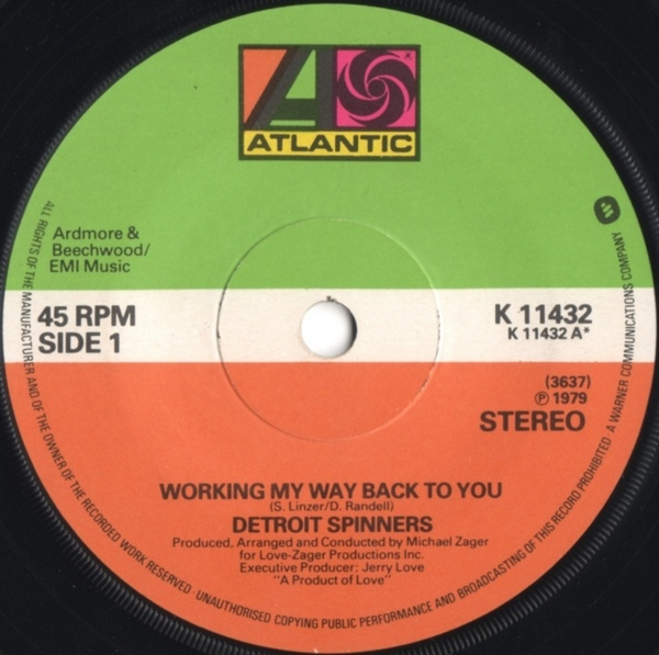 Detroit Spinners - Working My Way Back To You