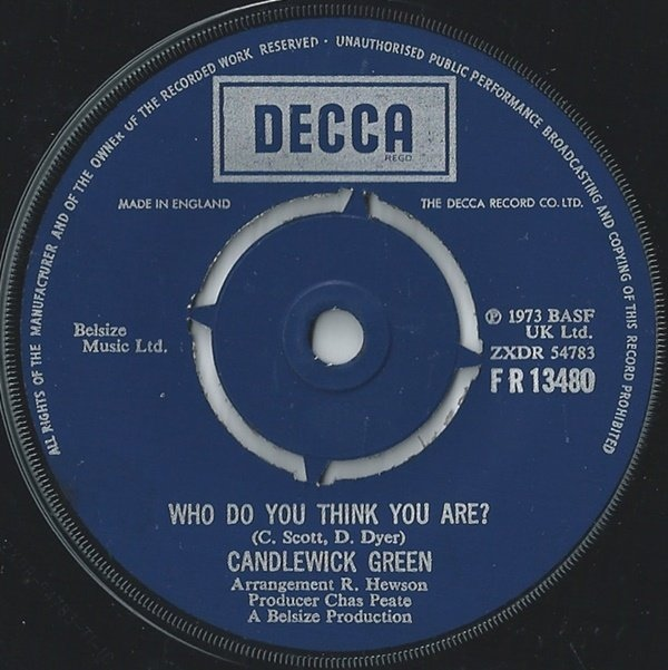 Candlewick Green - Who Do You Think You Are?