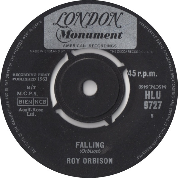 Roy Orbison - Falling / Distant Drums