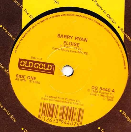 Barry Ryan / Jim Stafford - Eloise / Spiders And Snakes