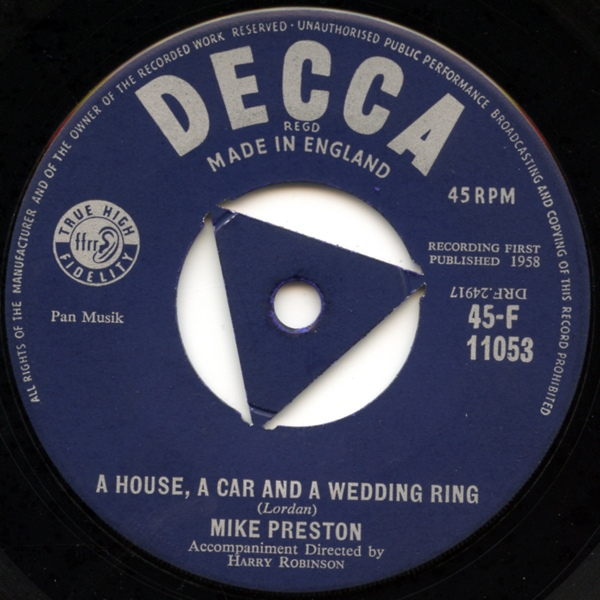 Mike Preston - A House, A Car And A Wedding Ring