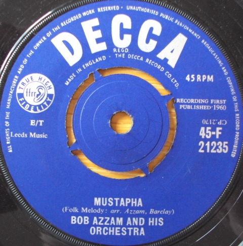 BOB AZZAM AND HIS ORCHESTRA - Mustapha - 45T x 1