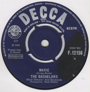 The Bachelors - Marie / You Can Tell