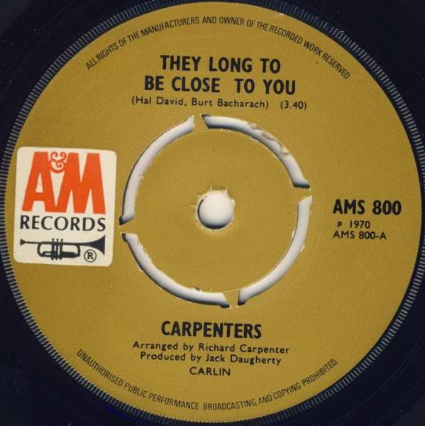 Carpenters - They Long To Be Close To You