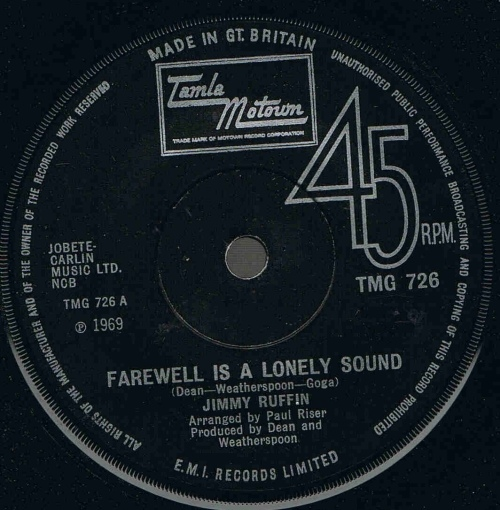 Jimmy Ruffin - Farewell Is A Lonely Sound