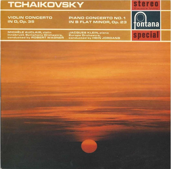 Tchaikovsky ; Mich?le Auclair (Violin), Innsbruck - Violin Concerto In D, Op. 35 -Piano Concerto No.