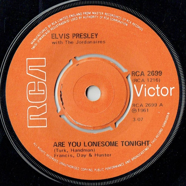 Elvis Presley - Are You Lonesome To-night? c/w I Gotta Know