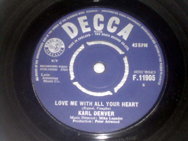 Karl Denver - Love Me With All Your Heart