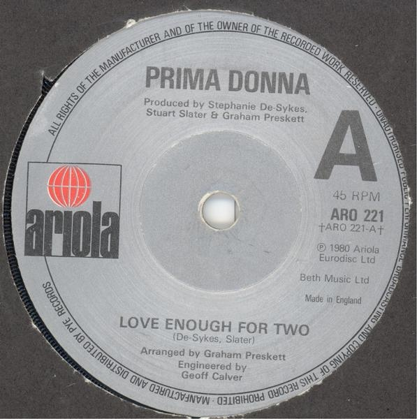 Prima Donna - Love Enough For Two